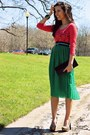 Coral-forever-21-top-green-forever-21-skirt-turquoise-blue-forever-21-belt