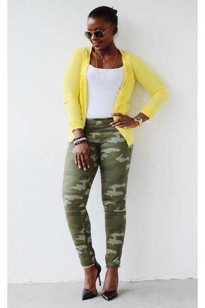 Old Navy cardigan - Gap pants - JCrew top - Zara heels