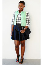 Forever 21 shirt - Zara bag - Forever 21 skirt - Prabal Gurung sandals