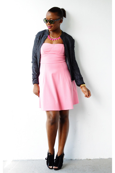 Cole Haan shoes - Lulus dress - Macys jacket