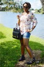 Black-vince-camuto-boots-blue-j-crew-shorts-milly-top