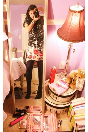 Lux dress - Old Navy tights - Charlotte Russe shoes
