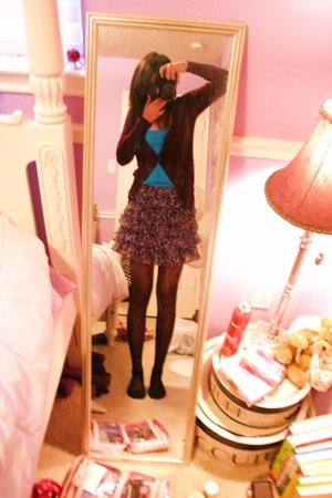 Forever21 sweater - urbanoutfitters top - urbanoutfitters shoes - skirt - Betsey
