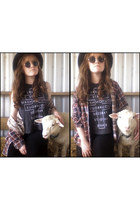 1 flannel vintage shirt - 20 sleeveless JayJays shirt - altered vintage pants