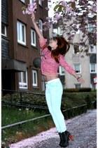 Jeffrey Campbell boots - Zara jeans - hnm blouse
