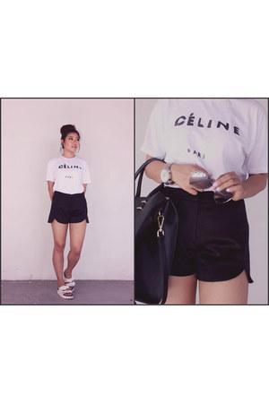Topshop shorts - Topshop flats - Ebay t-shirt