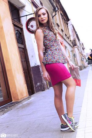 hot pink Raluca Burtea skirt - Raluca Burtea top