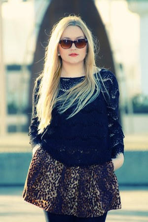 brown leopard print Zara skirt