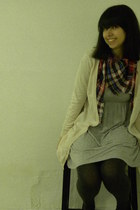 H&M cardigan - H&M dress - H&M scarf - H&M tights
