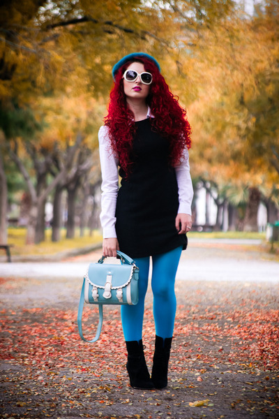 OASAP bag - Zara boots - vintage dress