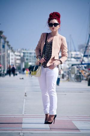 Zara blouse - Sheinside blazer - Prada sunglasses - Christian Louboutin pumps