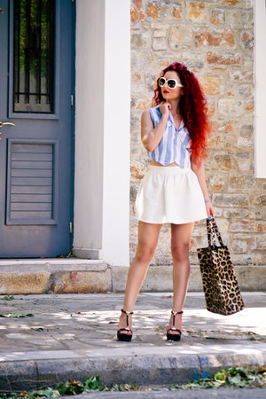 Ray Ban sunglasses - vintage vest - Burberry wedges