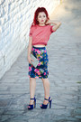 Steve-madden-shoes-zara-skirt-vintage-blouse