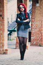 Michael Kors watch - Zara boots - Mango dress - Choies jacket