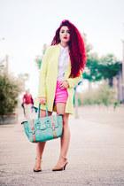 Choies coat - Valentino shoes - Zara shorts