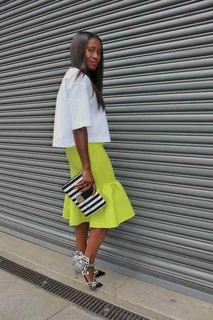 skirt - shoes - bag - top