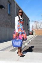 Peter Pilotto For Target dress - Jcrew shirt - Valentino bag - coach heels