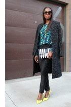 Marc Jacobs bag - surface to air coat - Equipment blouse - Valentino heels