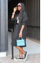 Express skirt - Zara jacket - Reed Krakoff bag - Clover Canyon top