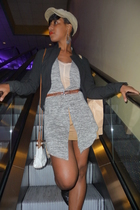 vest - blazer - shoes - shirt - purse