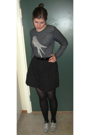 BikBok sweater - belt - shoes - handmade skirt