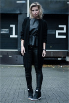 black OnePiece cardigan - black Coolcat pants - black H&M Trend top