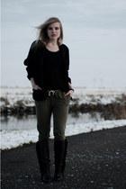black Charlotte Kan jacket - black fringe fringed Sacha boots