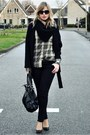 Green-jack-jones-blouse-black-big-oversized-zara-coat