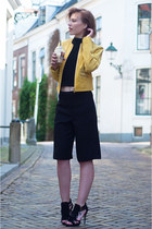 yellow BlueGold jacket - black Forever 21 shorts - black Forever 21 top