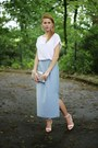 Silver-h-m-bag-white-mohito-top-sky-blue-no-name-skirt