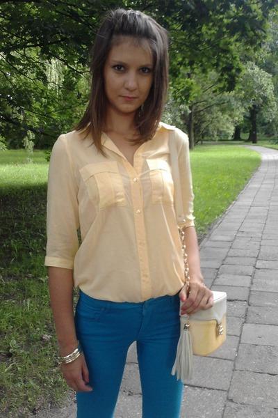 Mohito jeans - Deichmann shoes - Mohito purse - Mohito blouse