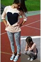 reserved sweater - New Yorker shoes - Stradivarius jeans - Mohito bracelet