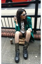 vintage wehrmacht boots - vintage jacket - thrifted vintage blouse