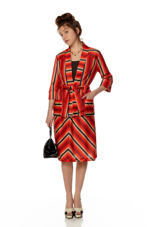 red striped Revival Vintage Boutique suit