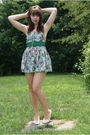 Blue-ebay-dress-green-modcloth-belt-white-vintage-from-etsy-shoes
