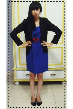 blazer - dress - necklace - shoes