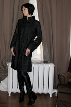 black Zara sweater - black Zara boots