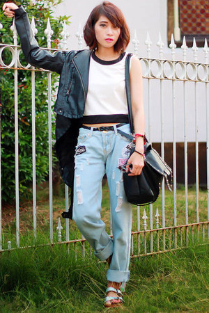 abaday jeans - Sheinside jacket - Adorable Projects sandals