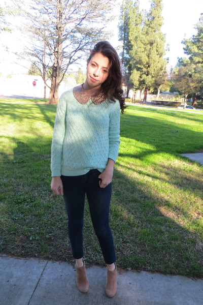 Old Navy sweater - Steve Madden boots - Forever 21 jeans - Forever 21 shirt