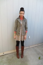 Urban Outfitters jacket - Steve Madden boots - Zara dress - JCrew top