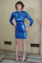 blue LA GLO dress