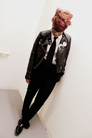 black H&amp;M jacket - H&amp;M pants