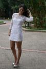 White-mango-dress-heather-gray-enzo-angiolini-pumps