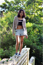 H&M jacket - DIY shorts - H&M top - Bensimon Tenis sneakers