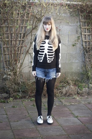 ribs jumper asos jumper - white creepers new look flats