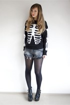 busted Jeffrey Campbell boots - ribs jumper asos sweatshirt
