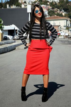 İpekyol skirt - Shoetek shoes - Burberry coat - Zara top