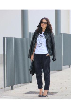 Zara heels - Mango pants - Zara t-shirt