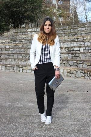 Zara blazer - new look bag - Zara pants