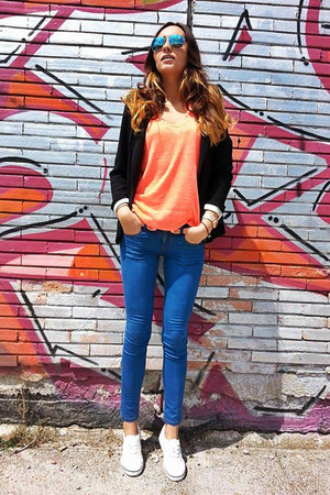 pull&bear jeans - new look blazer - H&M sunglasses - Pimkie top